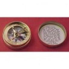 1750'S SUNDIAL COMPASS, BRASS