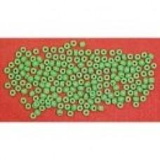 GLASS PONY BEAD, LIGHT GREEN