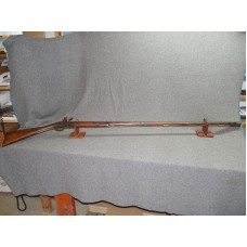 EARLY 19TH CENTURY SIGHTED FLINTLOCK SMOOTHBORE FOWLER MARKED G.B.