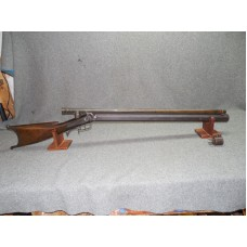 54 CALIBER PICKET RIFLE BY NELSON LEWIS TROY, NY.